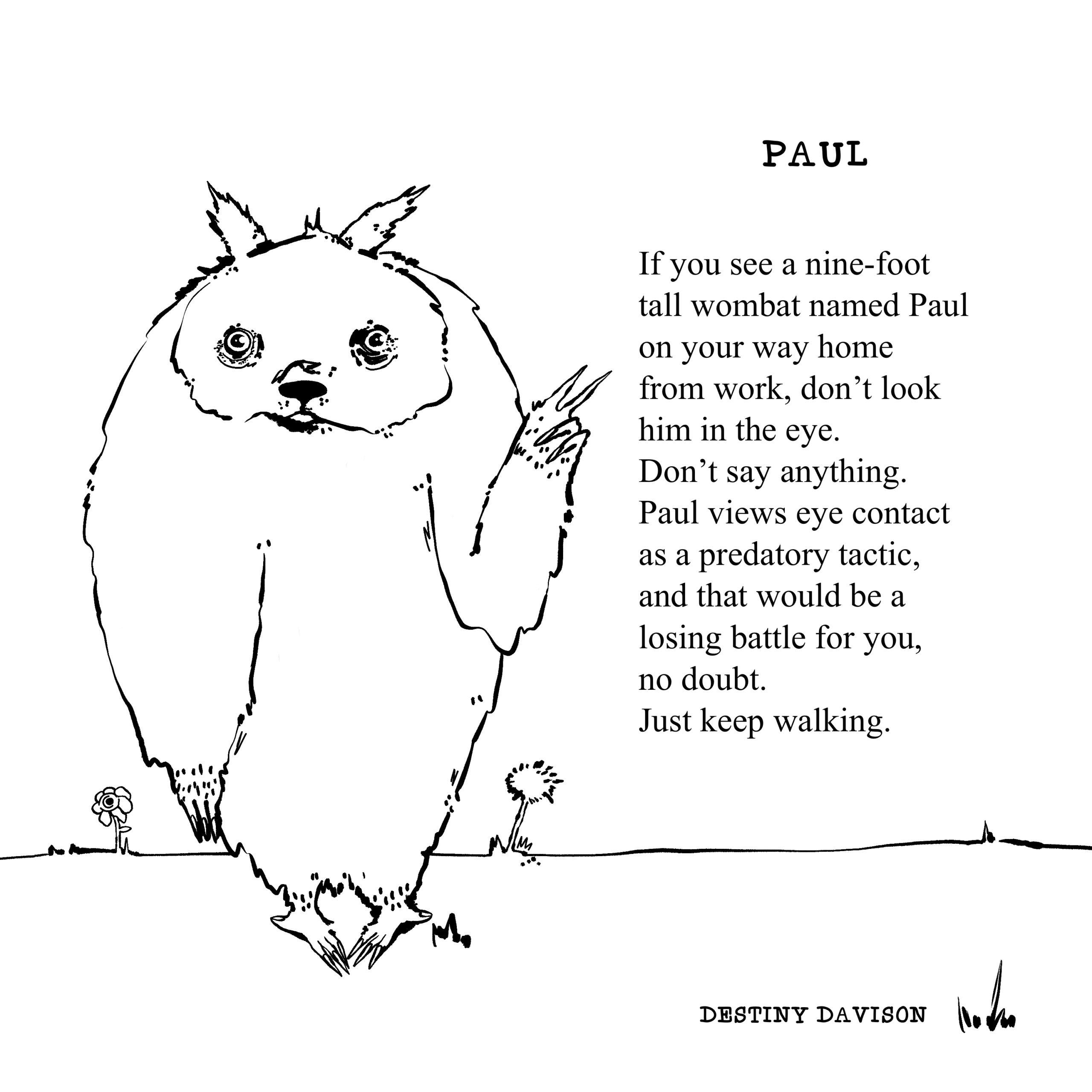 Paul, Destiny A. Davison